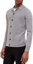 Jaeger Milano Wool Knit Cardigan, Grey