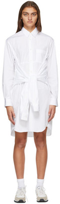 Comme des Garçons Shirt White Extra Sleeves Shirt Dress