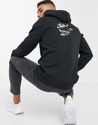 Reebok Classics x Tom and Jerry hoodie in black