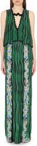 Mary Katrantzou Scalloped silk maxi dress