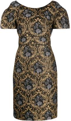 Paule Ka baroque-print midi dress