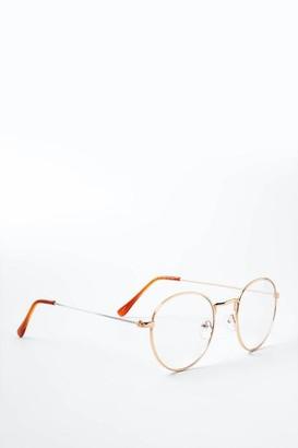 francesca's Kristine Round Blue Light Glasses - Rose/Gold