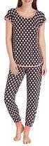 Kensie Owl-Print Jersey Pajamas