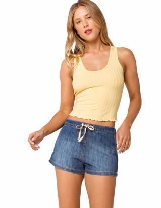 Roxy Junior's Go to The Beach Pull On Denim Shorts
