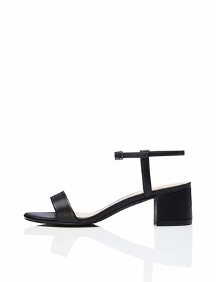 Find. Block Heel Ankle Strap Open Toe Sandals