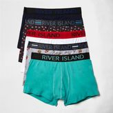 River Island MensGreen kitsch food print trunks pack