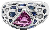 LeVian Corp Le Vian Grand Sample Sale Ring featuring Bubble Gum Pink Sapphire Blueberry Sapphire Vanilla Diamonds set in 18K Vanilla Gold Family