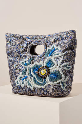 Anthropologie Beth Embroidered Clutch