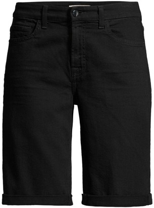 JEN7 by 7 For All Mankind Rolled-Cuff Denim Bermuda Shorts