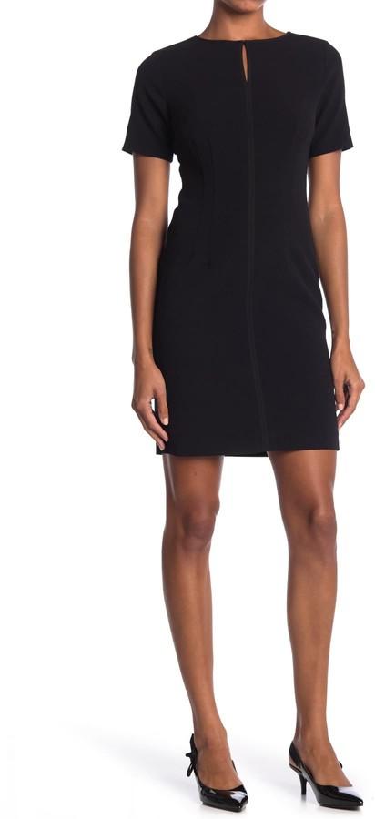 T Tahari Keyhole Short Sleeve Sheath Dress