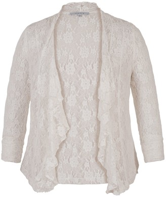 Chesca Stretch Lace Bead Shrug