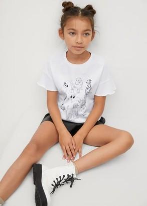 MANGO Sequins details printed t-shirt