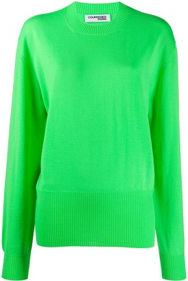 Courreges Relaxed-Fit Crew-Neck Jumper