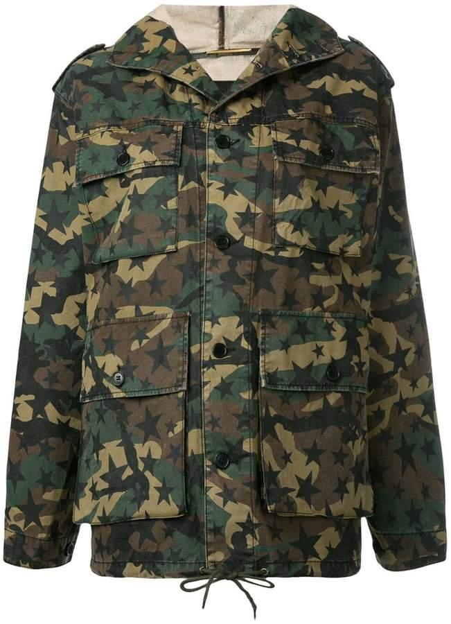 Saint Laurent hooded military jacket