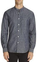 Todd Snyder Chambray Band Collar Regular Fit Button Down Shirt