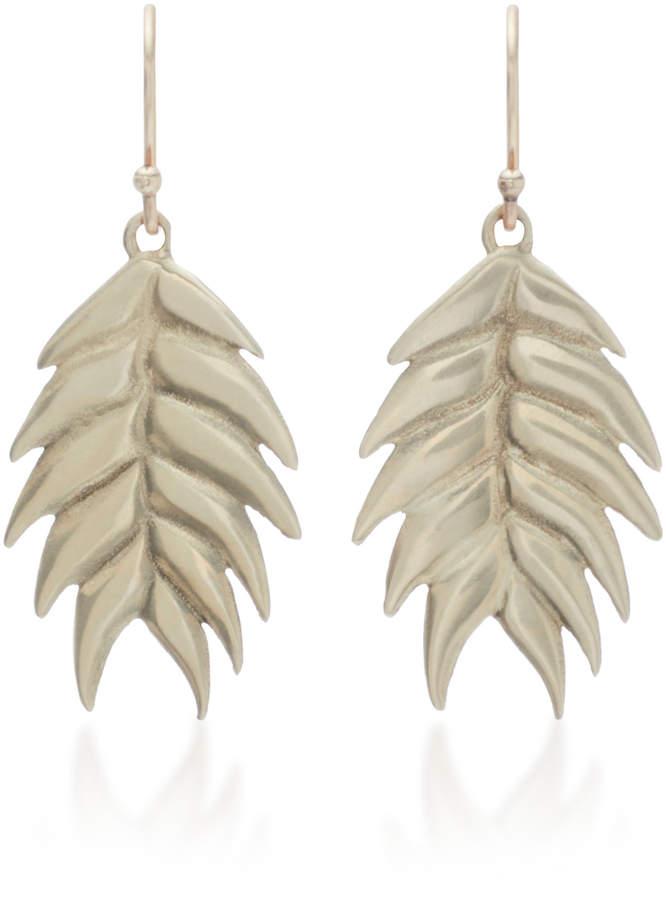 Annette Ferdinandsen Wild Oat 14K Gold Drop Earrings