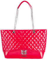 Love Moschino Quilted Patent Tote