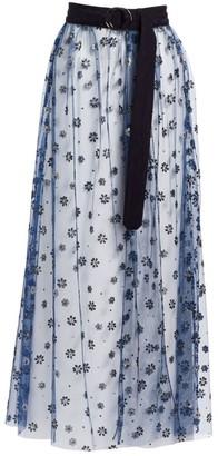 Rachel Comey Sparkle Tulle Fetes Floral Overlay Skirt