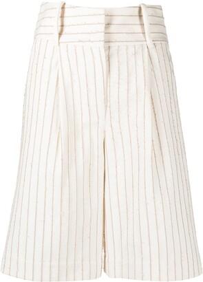 FEDERICA TOSI Pinstripe Tailored Shorts