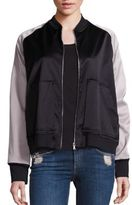 Monrow Bomber Long Sleeve Jacket