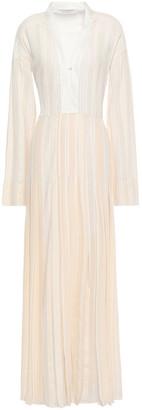 Philosophy di Lorenzo Serafini Belted Jacquard Maxi Dress