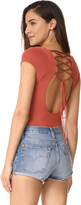 Free People All About The Back Thong Bodysuit