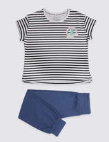 Marks and Spencer Lounge Striped Pyjamas (3-16 Years)