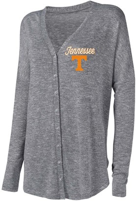 Unbranded Women's Concepts Sport Gray Tennessee Volunteers Knit Button-Up Sweater
