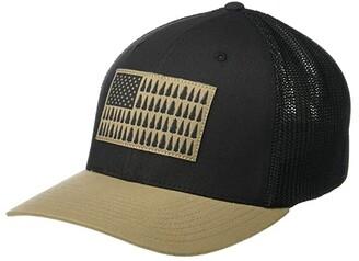 Columbia Meshtm Tree Flag Ball Cap (Delta) Caps