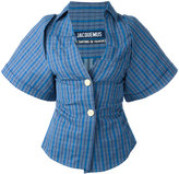 Jacquemus checked button front shirt - women - Cotton/Linen/Flax - 42