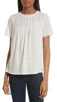 Rebecca Taylor Women's Lace Trim Knit Tee