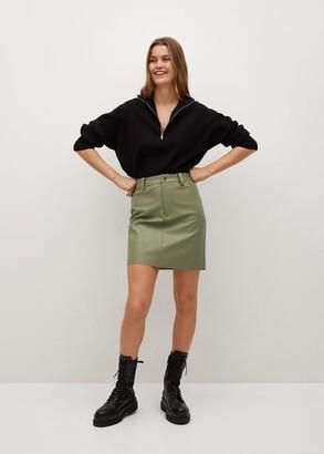 MANGO Skin effect mini skirt