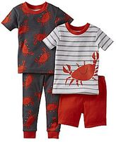 Carter's 4-pc. Hermit Crab Pajama Set - Boys 12m-24m