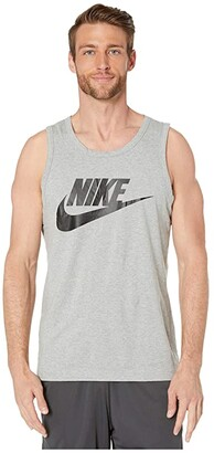 Nike NSW Futura Icon Tank Top (Dark Grey Heather/Black) Men's Sleeveless