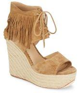 Ash Belinda Fringed Suede Espadrille Wedge Sandals