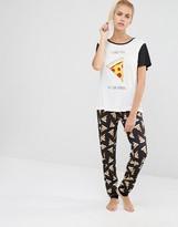 MinkPink Pizza Love PJ Set
