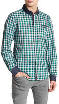 Report Collection Checked Long Sleeve Slim Fit Shirt