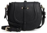 Linea Pelle Classic Faux Leather Saddle Bag - Black