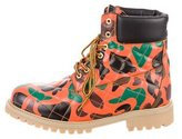 Moschino Camouflage Combat Boots w/ Tags