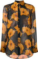 Paul Smith floral print sheer shirt