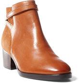 Ralph Lauren Damara Leather-Suede Bootie