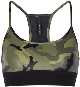 Koral Activewear Sweeper camouflage bra top