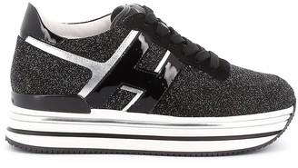 Hogan Midi Platform Glitter Sneakers
