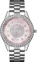 JBW Women's J6303F Mondrian Analog Pink Dial Stainless Steel Watch