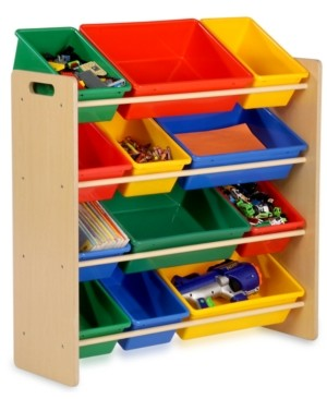 Honey-Can-Do Kids Toy Room Organizer with Totes, 12 Bins