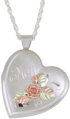 Black Hills Mom Locket with Chain, Sterling/12KGold