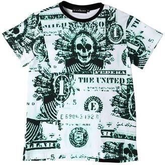 John Richmond Dollar Bills Print Cotton Jersey T-shirt