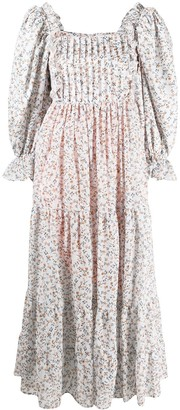 Lug Von Siga Puff-Sleeve Floral Dress