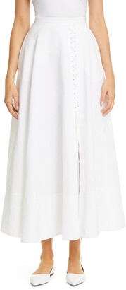 Brock Collection Corset Lace-Up Maxi Skirt