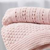 The White Company Knitted Patchwork Baby Blanket
